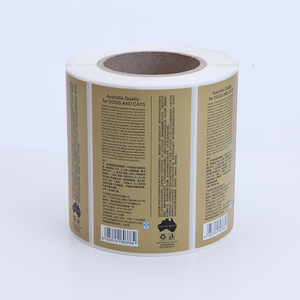 Removable waterproof PE roll packed permanent adhesive label sticker