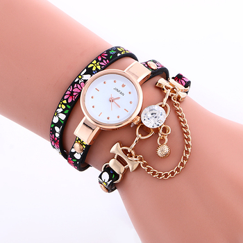 2966 Fashion Women Leather Watch Lady Bracelet Gold Watches Las