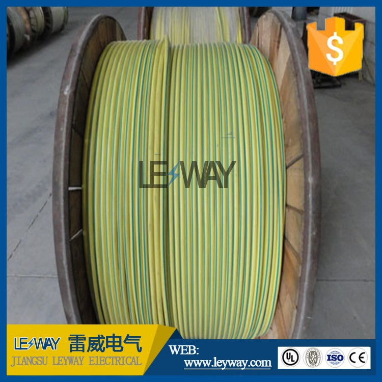 silicone rubber coated green yellow ground wire