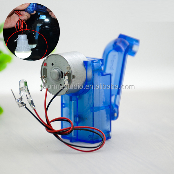 DIY mechanical reduction gear box Hand-cranked generator