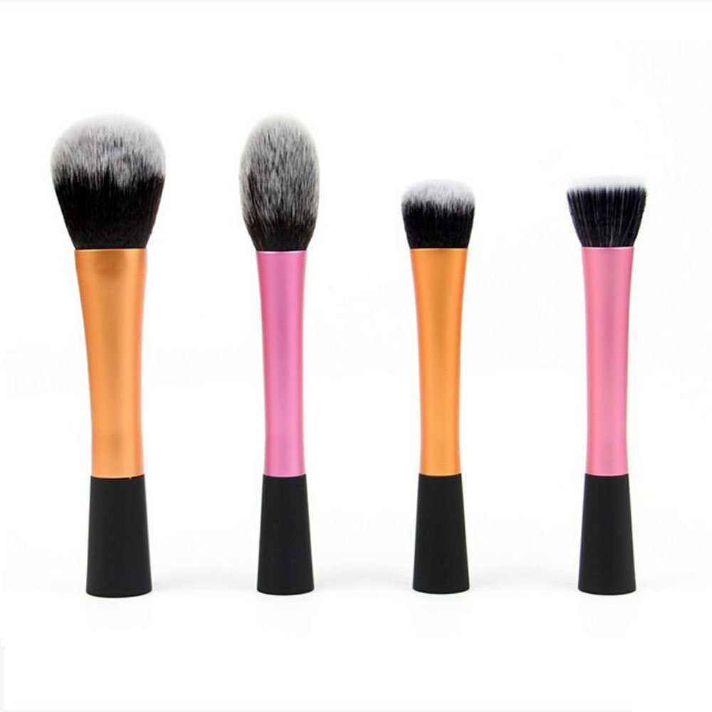4PCS High Quality Makeup Brushes Face Foundation Powder Brush Blush  Eyeshadow Brush Women Beauty Makeup Tools 875c25c435