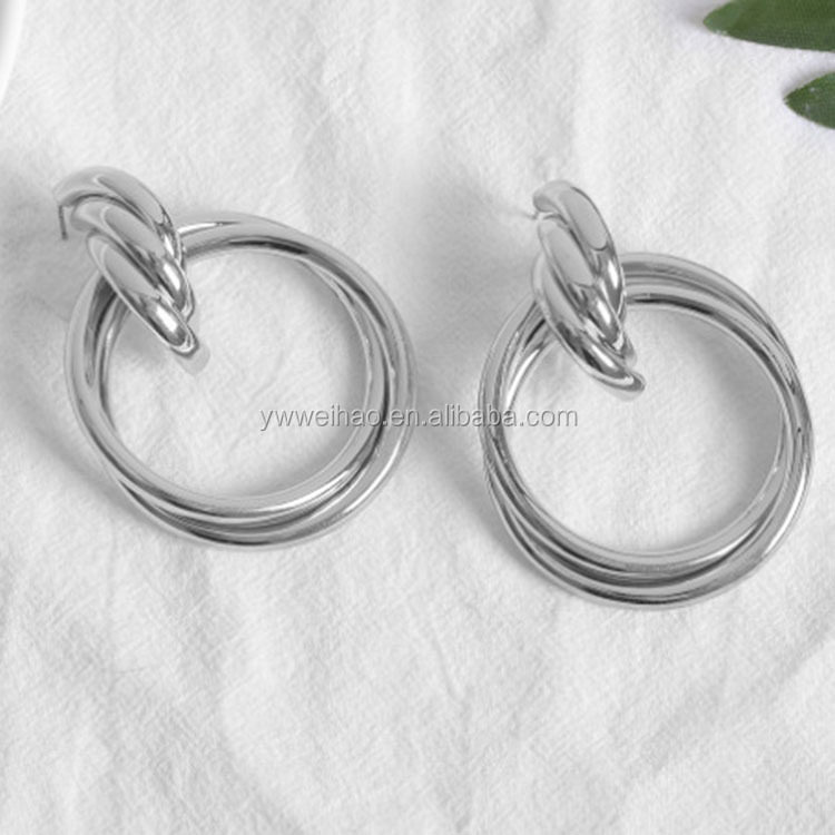 도매 fashion jewelry stainless steel 금 귀걸이 대 한 women