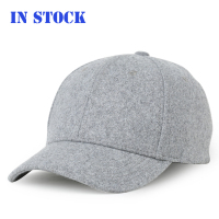 In Stock Fashion Contrast Color Hats Blank Tweed Wool Blend Winter Warm Baseball Cap