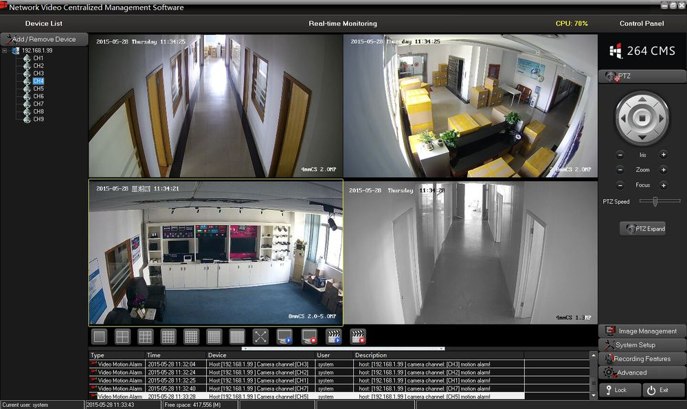 5MP 15fps WIFI IP PTZ  Camera