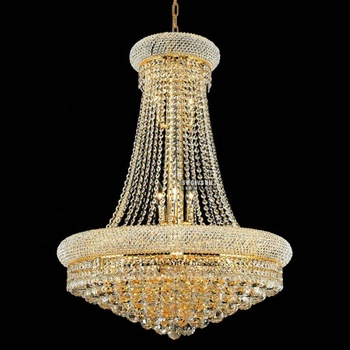 Empire large luxury K9 crystal chandelier for home art deco