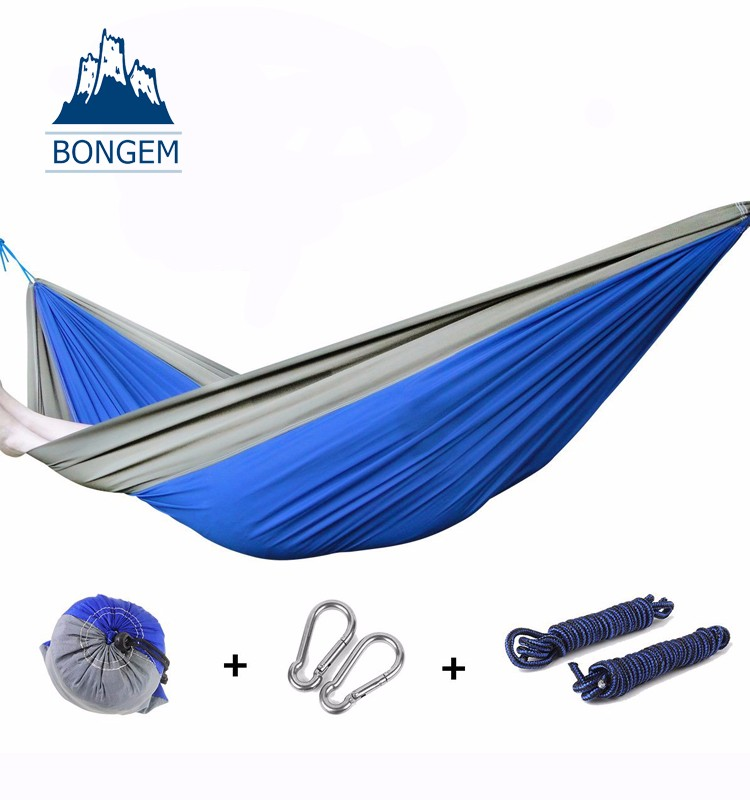 Hot parachute nylon compression camping hammock sleeping bag