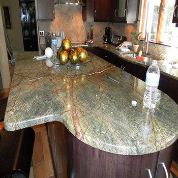 Natural Rainforest Green Marble Countertop Kitchen Greenmarble