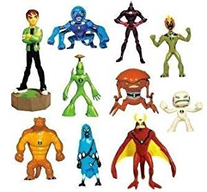 Ben 10 Alien Force Toys - Lot of 20 - 2 Complete Sets - Party Favors - Cake Toppers - Series 2 Vending Capsule Toys