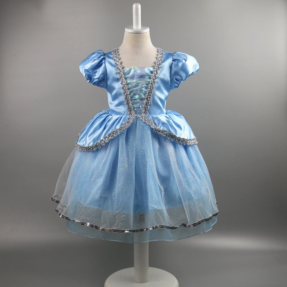 European Style Cinderella Dress For 8 Years Old Ice Queen Girl Party ...