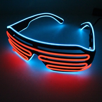 Party favor plastic glowing plane line in the dark EL wire glasses for party