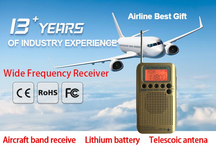 Portable Aircraft Band Radio FM MW SW AIR CB VHF World Band