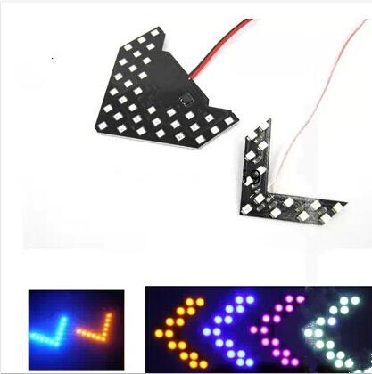 Бесплатная доставка 4 шт./лот 33 СМД из светодиодов стрелки панели для автомобиля зеркала индикатор желтый