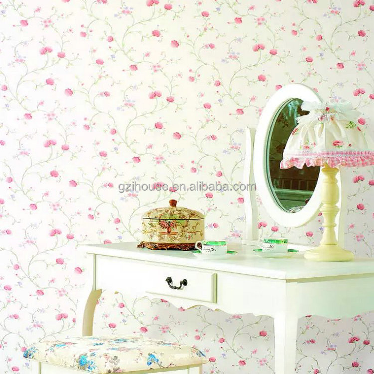 beautiful fresh country flower patterns for home pvc korea wallpaper beautiful fresh home