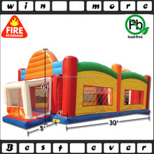 PVC inflatable sports game zone, twister,basketball,football,volleyball area