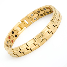 New arrival bio energy 22k gold stainless steel bracelet jewelry with health element stone