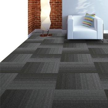 Gradient Color Stripe Design Pp Carpet Tile Hotel Living Room Carpet