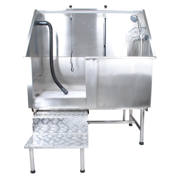 stainless steel fixed foot bathtub 50 inch grooming bathtub for dog h104