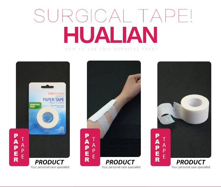 hospital Medical grade custom micropore surgical adhesive nonwoven paper tape for dressing and catheter fixation