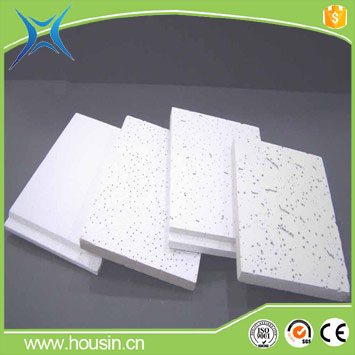 Acoustic mineral fiber ceiling panel 15mm