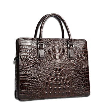 Custom Business Bag Briefcase for Man Real Crocodile Quality Leather Briefcase