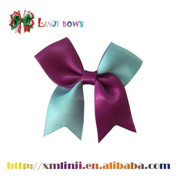 Wholesale single face double face satin ribbon bow solid color satin ribbon bow