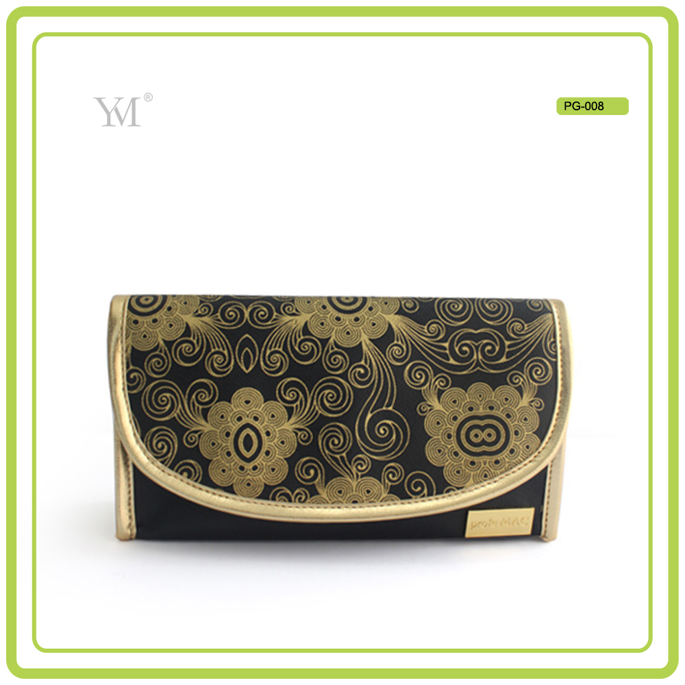 custom printing elegant new product 2016 women's leather toiletry bag