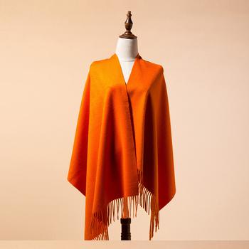 614147bad4e9a Plain orange color mongolian high quality cashmere 100% mongolian cashmere  scarf