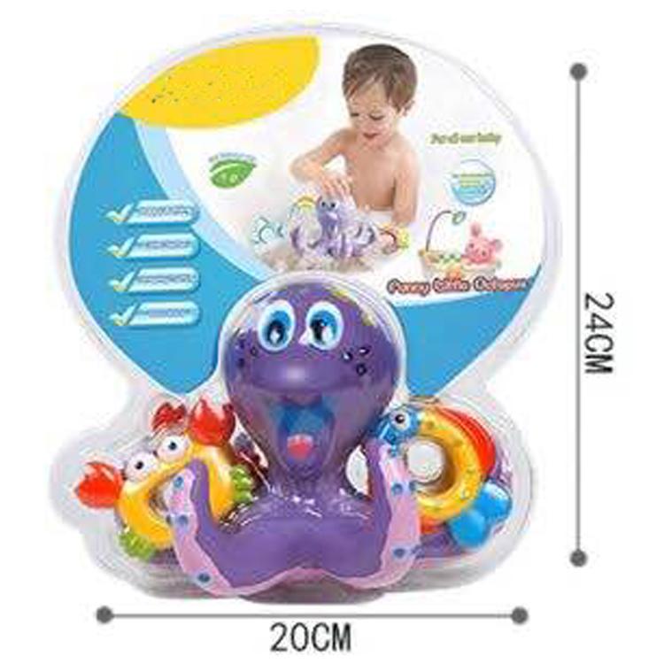Hot Selling Purple Octopus Hoopla Baby Bathtime Kid Fun bath toy