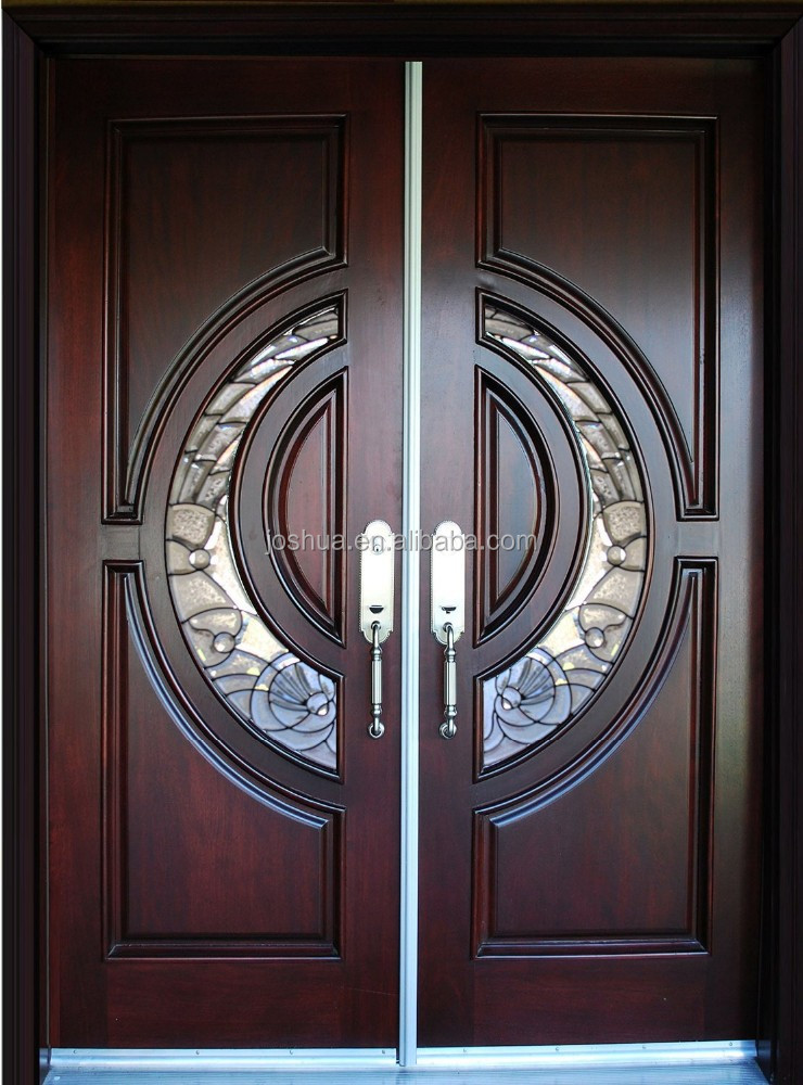 100% Mahogany Tiffany Wood <strong>Door</strong> Exterior Front Entry Double House double entry wood <strong>door</strong> shipping free