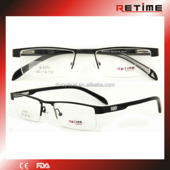 cool optical frames  New Sample Design Cool Half Rim Metal Eyeglasses Optical Frames ...