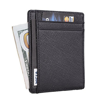 732b7c1208f3 Custom wholesale RFID Front Pocket Wallet Minimalist Wallet Slim Wallet  Genuine Leather Back business Card Case Holder for men, View rfid blocking  ...