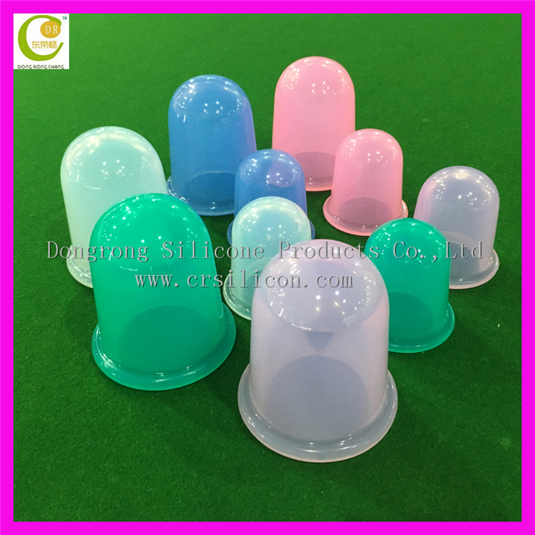Multifunctional Chinese medical body health products silicone massage cups therapy 4 cups silicone