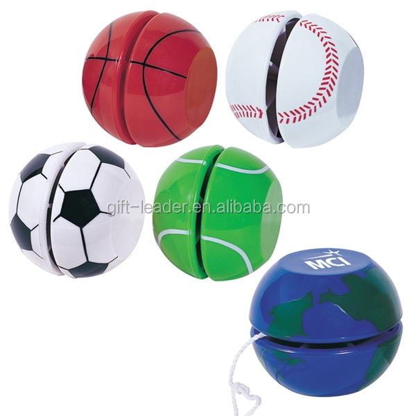 Novelty new gift plastic solid classic yo-yo reel ball blank logo print custom kids finger control sticky retractable yoyo toys