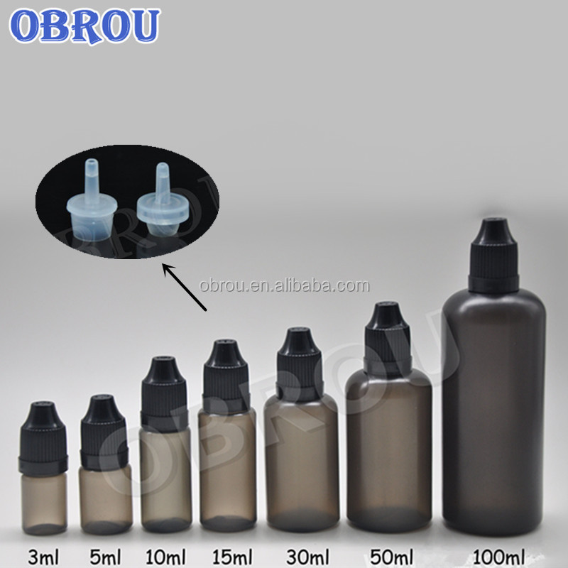 Vapor Pe 5ml 10ml 20ml 30ml 50ml 60ml 100ml E Liquid Black Plastic Dropper  Bottle For Vape Oil E Juice - Buy E Liquid Black Plastic Dropper Bottle,5ml