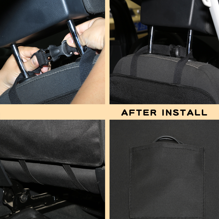 Car Storage Bag Universal Back Seat Organizer Backseat Pockets Holder Black Book holder CD Holder