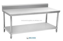 Movable Kitchen Table Stainless Steel Workbench With Wheels Commercial Inox Working Table For Restaurant Kitchen