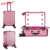 Yaeshii professional aluminum rolling torlley beauty makeup case with LED lights and mirror legs removable wheels