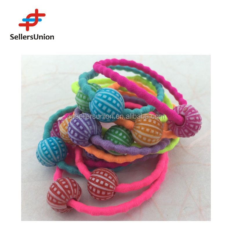 no.1 yiwu commission agent fashion accessiories--colorful elastic hair bands set for kids