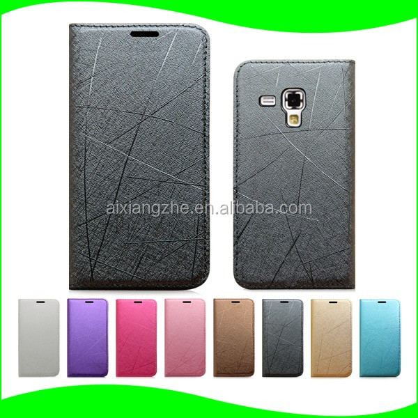 Luxury Ultra Thin Customized Leather Case Cover for Samsung Galaxy star pro s7262