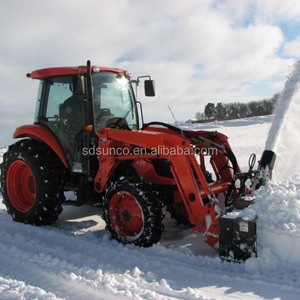 tractor implement snow blower, snow thrower, throw remover