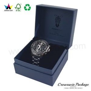 Elegant paper cardboard luxury watch boxes for watch packaging
