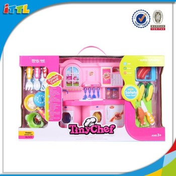 Kitchen play set mini kitchen set toy real cooking toy for for Kitchen set wala game