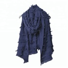 Fringed kashmir wool shawl thick for winter