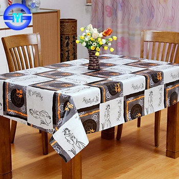 cheap custom printed square design indian wedding tablecloths grey