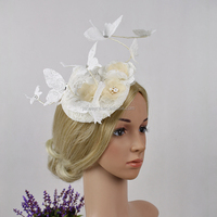 New Design Fashion Lace Cover Base Wedding Party Fascinator Hair Accessory