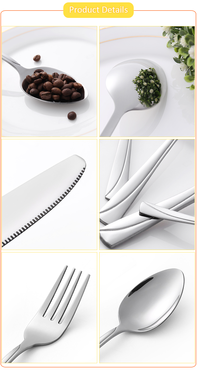 Bulk Spoon Stainless Steel Decorative Elegant Forks Restaurant Cutlery