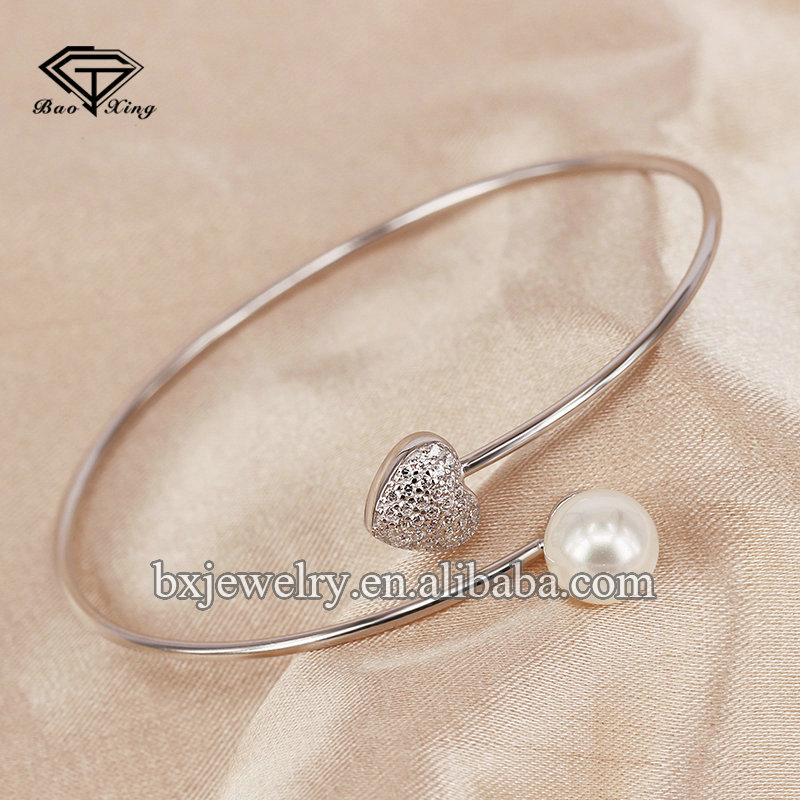 Made in china fashion 925 sterling silver pearl bracelet