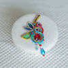 Tribal Festive Party Handmade Europe Soutache Jewelry In Brooch