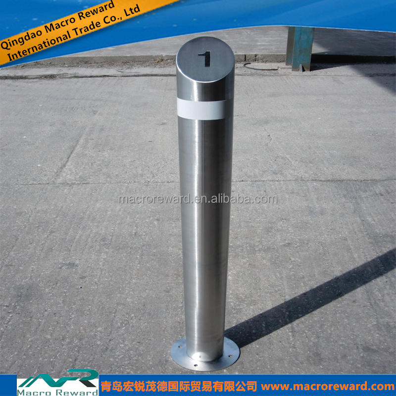 JIS SS 304 316 316L Stainless Steel Fixed Bollard for Outdoor Use