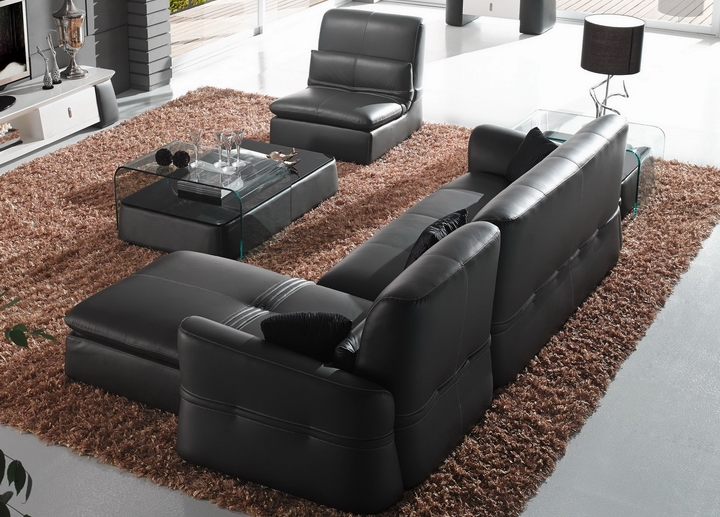 Couch Living Room High End Italian Leather Sofa Recliner